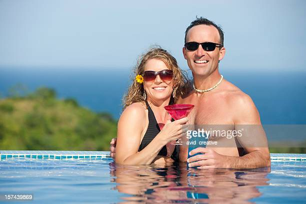 Vacation Lifestyles-Couple in Pool