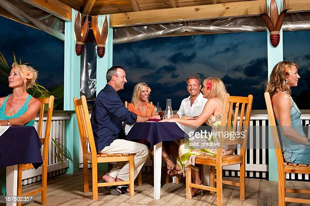 Vacation Lifestyles-Friends Dining Together