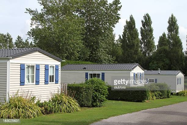 Vacation static holiday caravans in a country woodland setting
