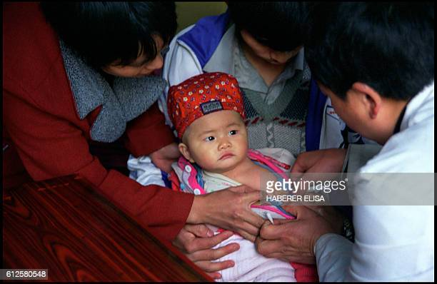Vaccination is required in China from the first days of life A vaccine against hepatitis costs 10 yuans Everyday Dr He Xiango walks 25 kilometers...