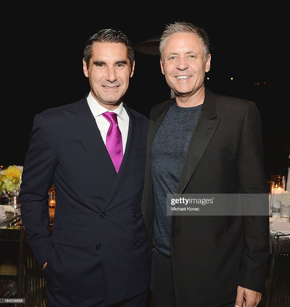 Vacheron Constantin North America President, Hugues de Pins (L) and Gary Simons attend the Vacheron Constantin High Jewelry Collection Dinner at a private residence on October 10, 2013 in Los Angeles, California.