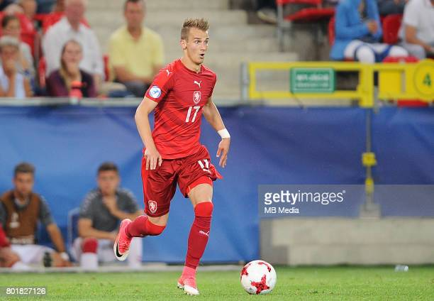 Vaclav Cerny during the UEFA European Under21 match between Czech Republic and Denmark at Arena Tychy on June 24 2017 in Tychy Poland