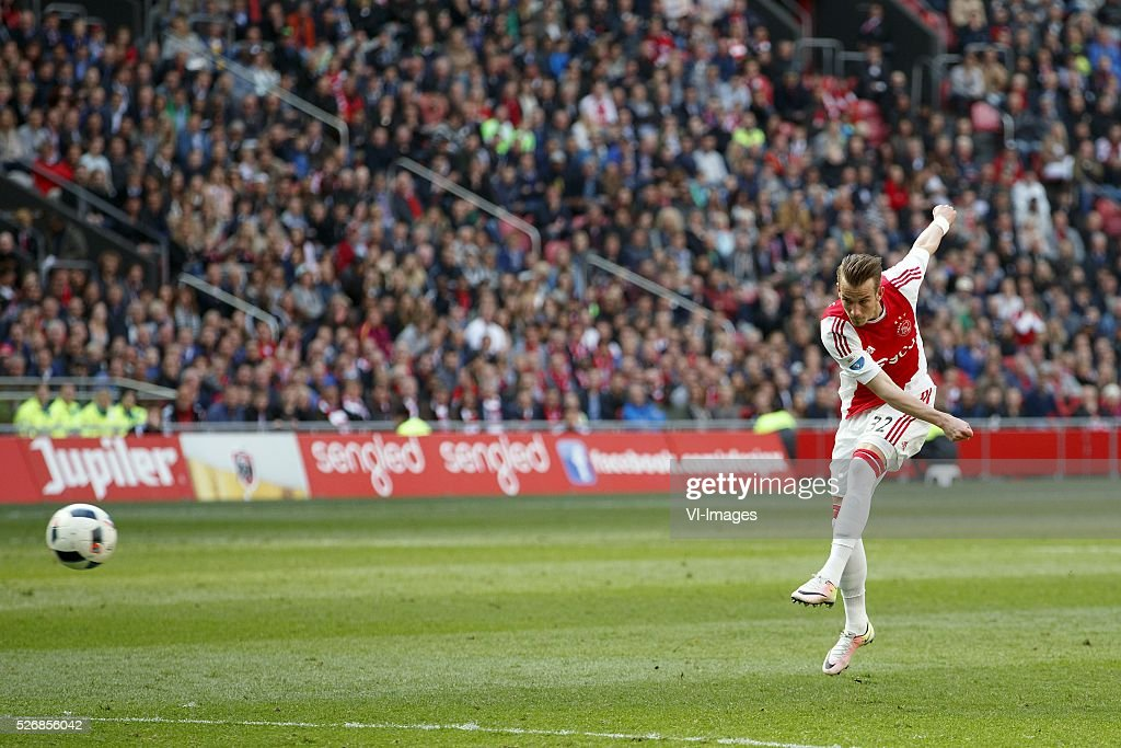 Vaclav Cerny of Ajax during the Dutch Eredivisie match between Ajax Amsterdam and FC Twente at the Amsterdam Arena on May 01, 2016 in Amsterdam, The Netherlands