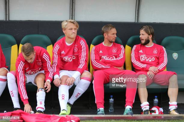 Vaclav Cerny of Ajax Kasper Dolberg of Ajax Siem de Jong of Ajax Lasse Schone of Ajax during the Dutch Eredivisie match between ADO Den Haag and Ajax...