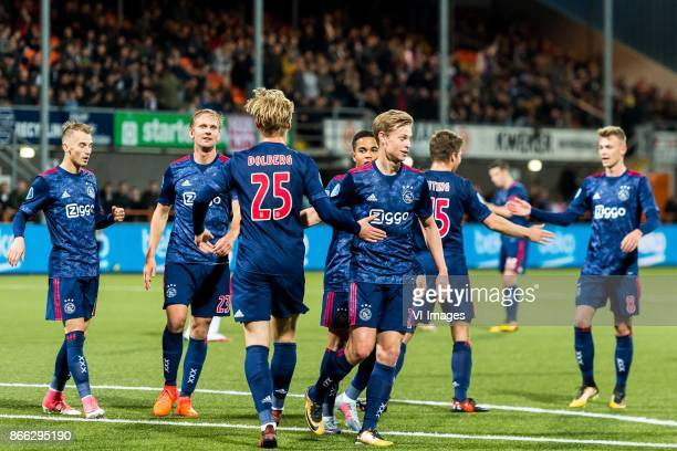 Vaclav Cerny of Ajax Siem de Jong of Ajax Kasper Dolberg of Ajax Justin Kluivert of Ajax Frenkie de Jong of Ajax Carel Eiting of Ajax Daley...