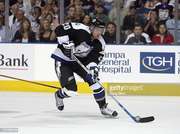 Vaclav Prospal of the Tampa Bay Lightning skates during the game against the Boston Bruins at the St Pete Times Forum on October 7 2006 in Tampa...