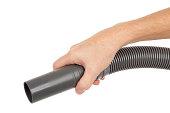 Vacuum Cleaner Hose in Hand