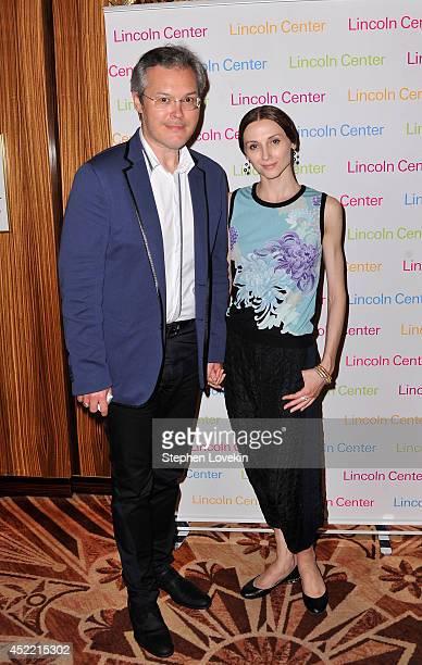 Vadim Repin and ballet dancer Svetlana Zakharova attend The Lincoln Center Festival Celebration for The Bolshoi Ballet at Russian Tea Room on July 15...