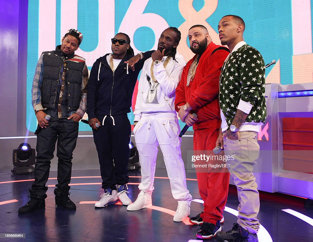 Vado, Ace Hood, Movado, DJ Khaled, and Bow Wow attend 106 & Park at 106 & Park studio on October 22, 2013 in New York City.