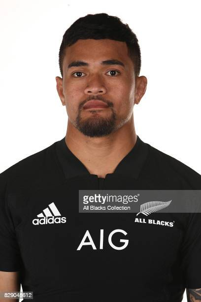 Vaea Fifita poses during a New Zealand All Blacks headshots session at The Heritage Hotel on August 10 2017 in Auckland New Zealand