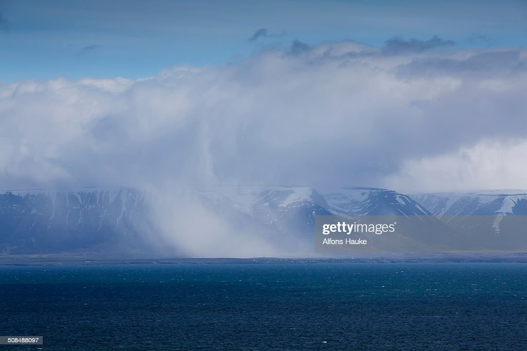 Vagaries of the weather over the sea, North Iceland, Iceland, Europe