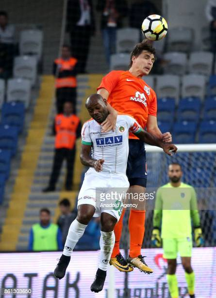 Vagner Love of Aytemiz Alanyaspor in action during the Turkish Super Lig soccer match between Medipol Basaksehir and Aytemiz Alanyaspor at 3rd...