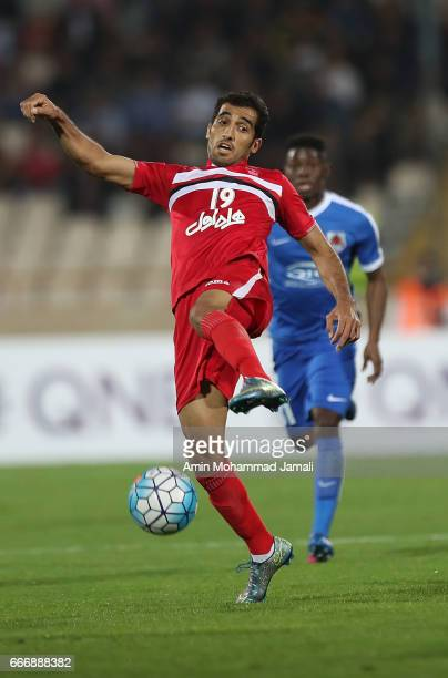 Vahid Amiri of Persepolis in action during AFC Asian Champions League match between Persepolis vs AlRayyanon April 10 2017 in Tehran Iran