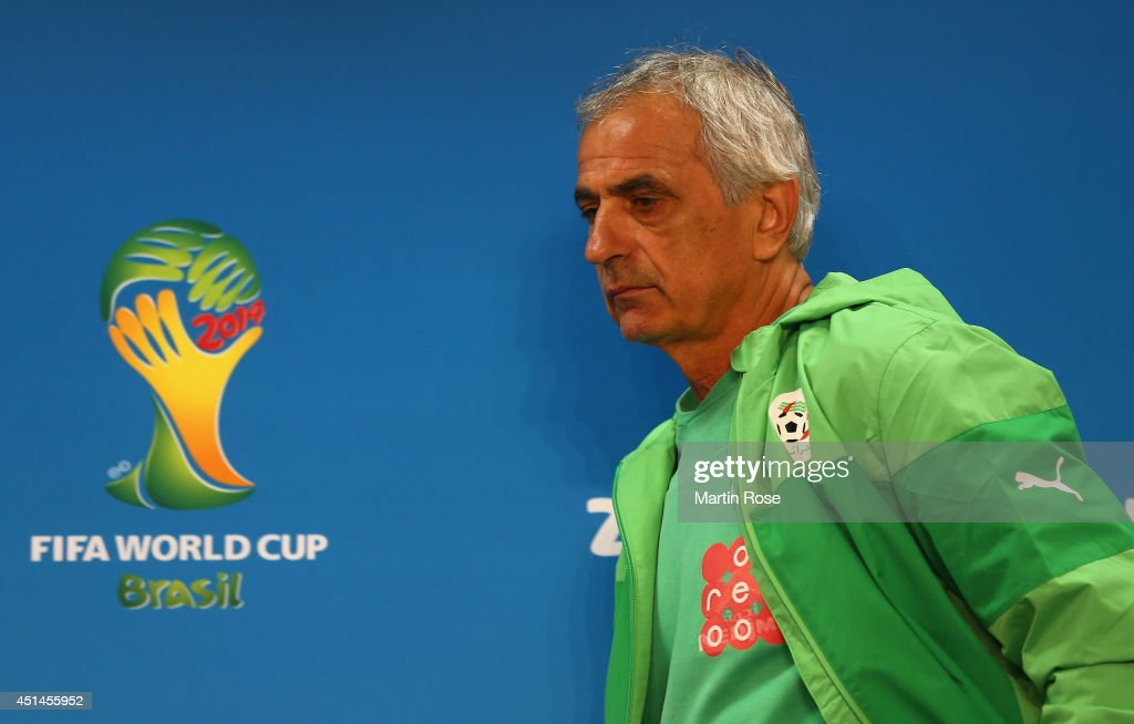 Vahid Halilhhodzic, head coach of Algeria attends the Algeria national team press conference at Estadio Beira-Rio at on June 29, 2014 in Porto Alegre, Brazil.