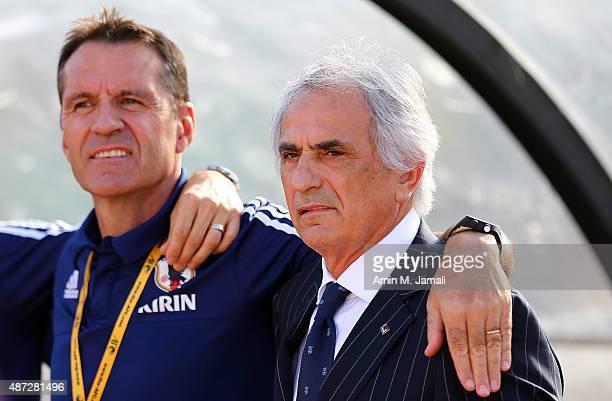 Vahid Halilhodzic coach of Japan looks on ahead of the 2018 FIFA World Cup Russia qualifier against Afghanistan at Azadi Stadium on September 8 2015...
