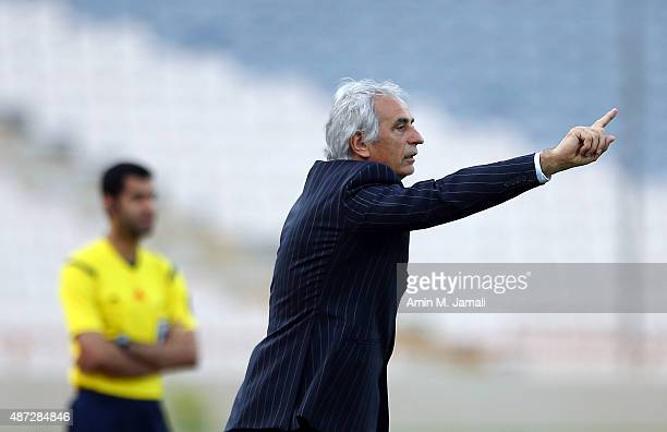 Vahid Halilhodzic coach of Japan looks on during the 2018 FIFA World Cup Russia qualifier against Afghanistan at Azadi Stadium on September 8 2015 in...