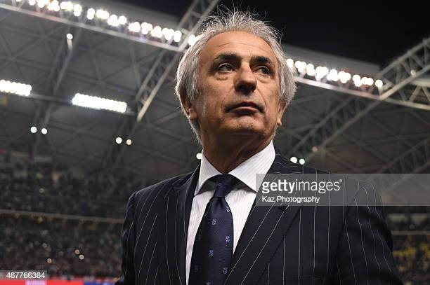 Vahid Halilhodzic manager of Japan during the international friendly match between Japan and Tunisia at Oita Bank Dome on March 27 2015 in Oita Japan