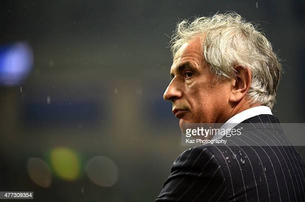 Vahid Halilhodzic manager of Japan looks on after the draw during the 2018 FIFA World Cup Asian Qualifier second round match between Japan and...