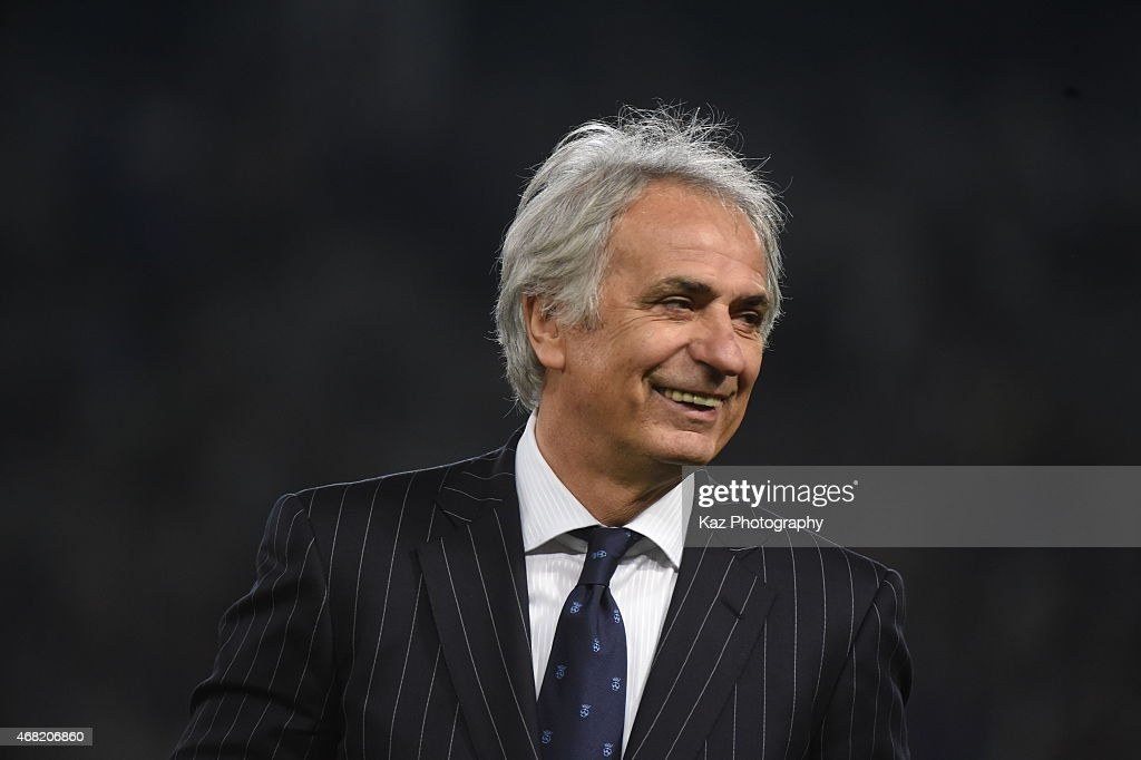 <a gi-track='captionPersonalityLinkClicked' href=/galleries/search?phrase=Vahid+Halilhodzic&family=editorial&specificpeople=777212 ng-click='$event.stopPropagation()'>Vahid Halilhodzic</a>, manager of Japan smiles after the win during the international friendly match between Japan and Uzbekistan at Ajinomoto Stadium on March 31, 2015 in Tokyo, Japan.