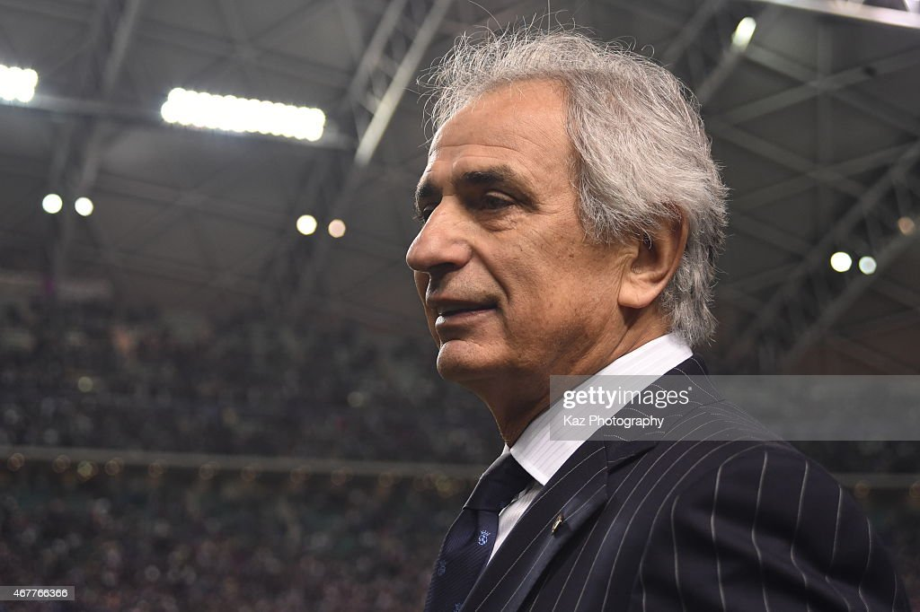 <a gi-track='captionPersonalityLinkClicked' href=/galleries/search?phrase=Vahid+Halilhodzic&family=editorial&specificpeople=777212 ng-click='$event.stopPropagation()'>Vahid Halilhodzic</a>, manager of Japan smiles for his 1st win during the international friendly match between Japan and Tunisia at Oita Bank Dome on March 27, 2015 in Oita, Japan.