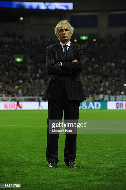 Vahid Halilhodziccoach of Japan looks on after the 2018 FIFA World Cup Qualifier Round 2 Group E match between Japan and Cambodia at Saitama Stadium...