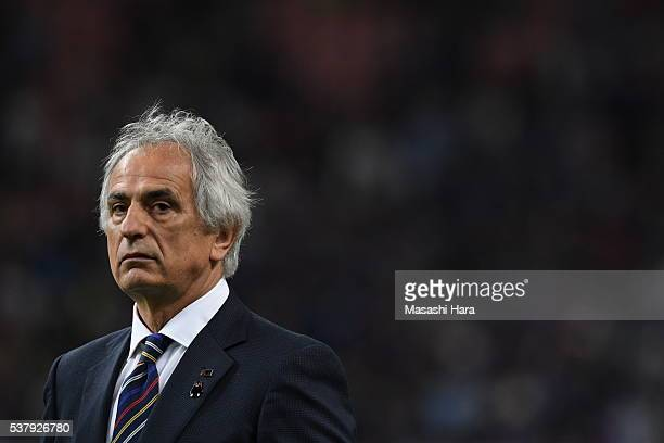 Vahid Halilhodziccoach of Japan looks on after the international friendly match between Japan and Bulgaria at the Toyota Stadium on June 3 2016 in...