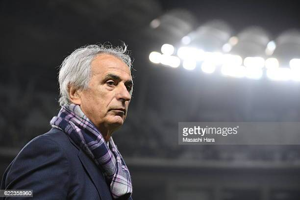 Vahid Halilhodziccoach of Japan looks on after the international friendly match between Japan and Oman at Kashima Soccer Stadium on November 11 2016...