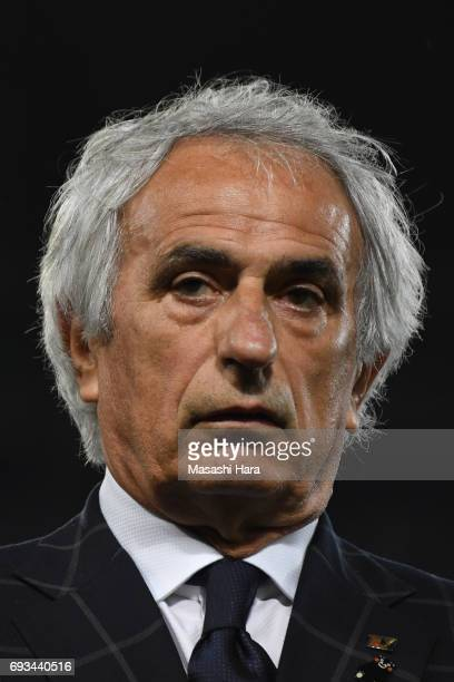 Vahid Halilhodziccoach of Japan looks on after the international friendly match between Japan and Syria at Tokyo Stadium on June 7 2017 in Chofu...