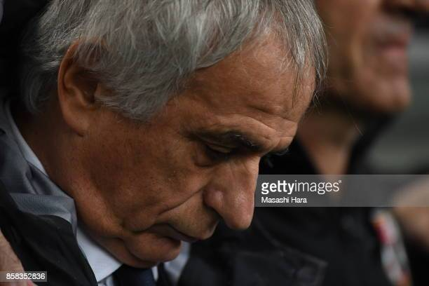 Vahid Halilhodziccoach of Japan looks on prior to the international friendly match between Japan and New Zealand at Toyota Stadium on October 6 2017...