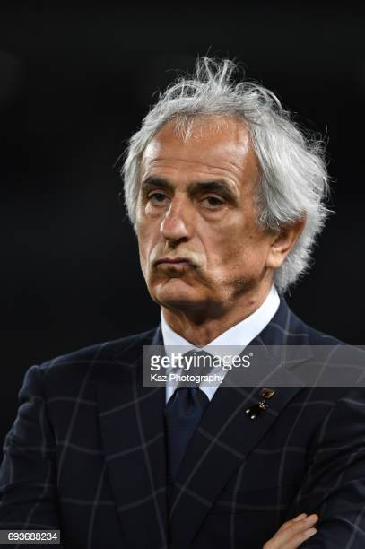 Vahid Halilhodzichead coach of Japan disappointedthe result during the international friendly match between Japan and Syria at Tokyo Stadium on June...