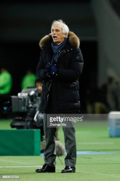 Vahid Halilhodzichead coach of Japan in action during the EAFF E1 Men's Football Championship between Japan and China at Ajinomoto Stadium on...