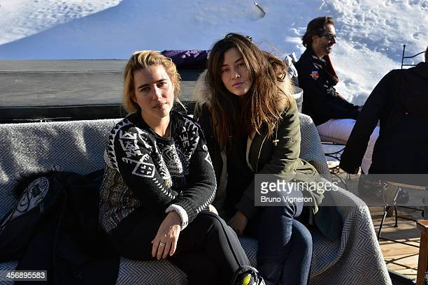 Vahina Giocante and Mylene Jampanoi attend the 5th edition of Les Arcs European Film Festival on December 15 2013 in Les Arcs France