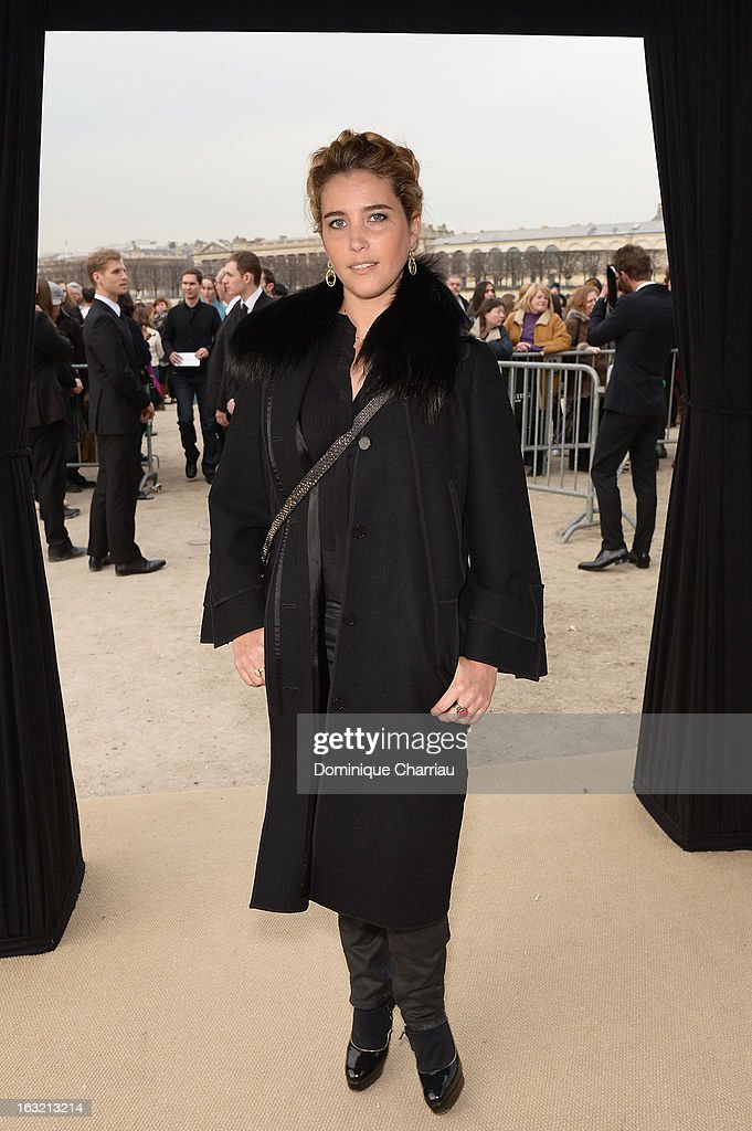 Vahina Giocante attends the Elie Saab Fall/Winter 2013 Ready-to-Wear show as part of Paris Fashion Week on March 6, 2013 in Paris, France.