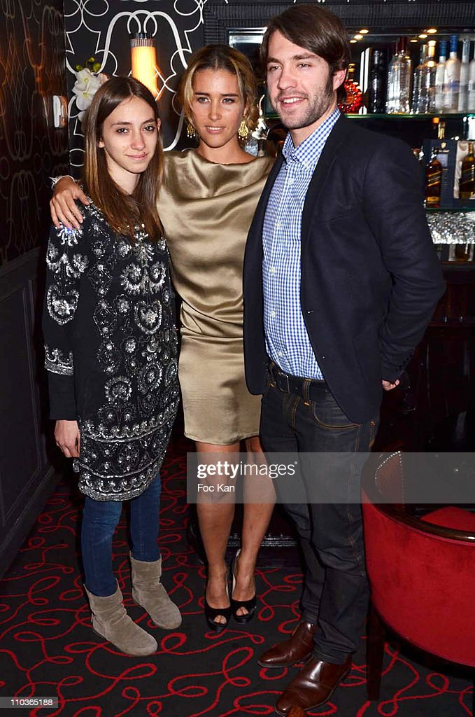 Vahina Giocante, her sister Appolonia ( L ) and her brother Loumir attend the Sonia Rykiel After Party at Castel Club on on March 5, 2011 in Paris, France.