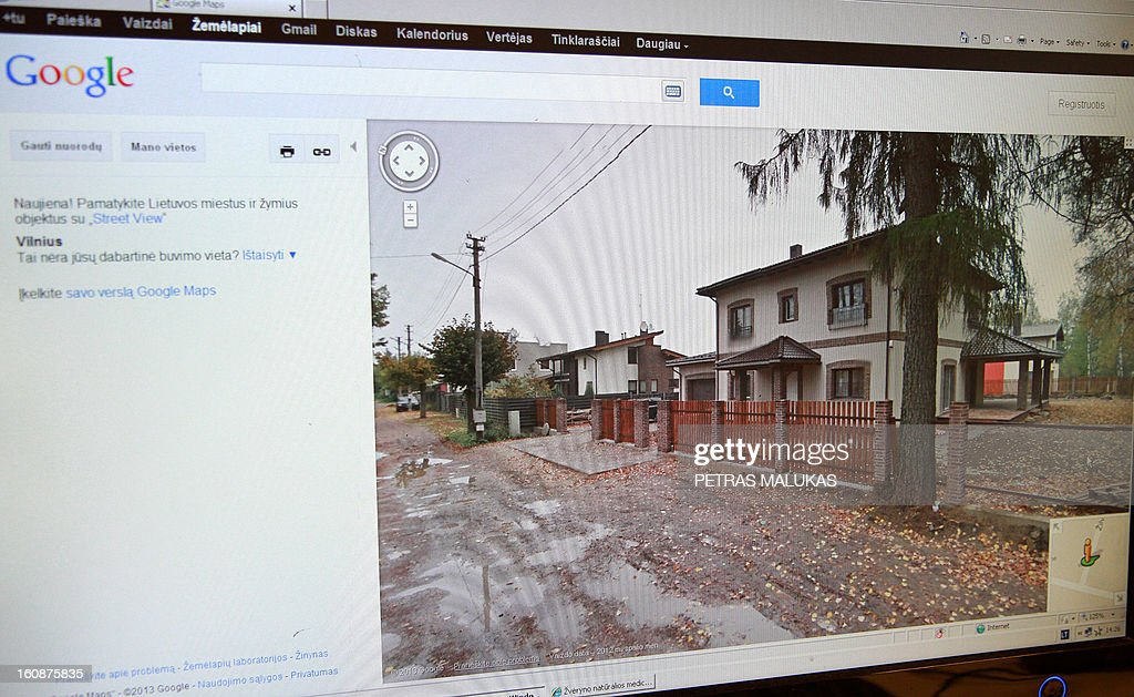 Vaidotas Beniusis A street in Vilnius is seen on a website operated by Google street View on February 7, 2013 in Vilnius, Lithuania . Lithuanian tax authorities said on February 7, 2013 they would use the Baltic state's recently launched Google Street View platform to track tax cheats by identifying the real value of property holdings. AFP PHOTO / PETRAS MALUKAS