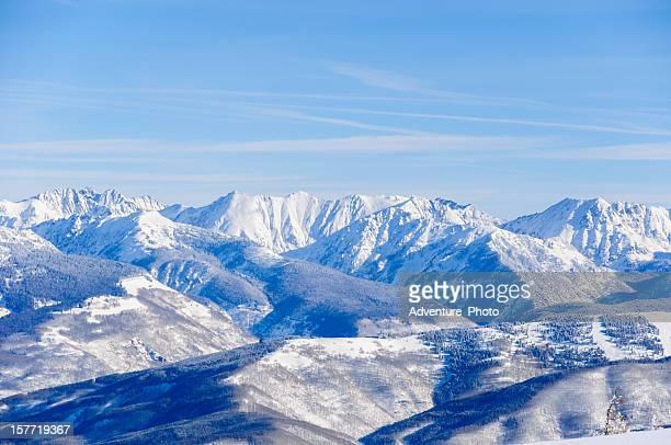 Vail Colorado Back Bowls and Gore Range Mountains Winter Landscape