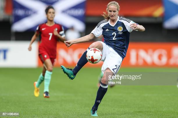 Vaila Barsley of Scotland controls the ball the UEFA Women's Euro 2017 Group D match between Scotland v Portugal at Sparta Stadion on July 23 2017 in...