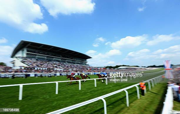 Vainglory ridden by Martin Lane wins The Investec Mile during Epsom Races at Epsom Racecourse on May 31 2013 in Epsom England
