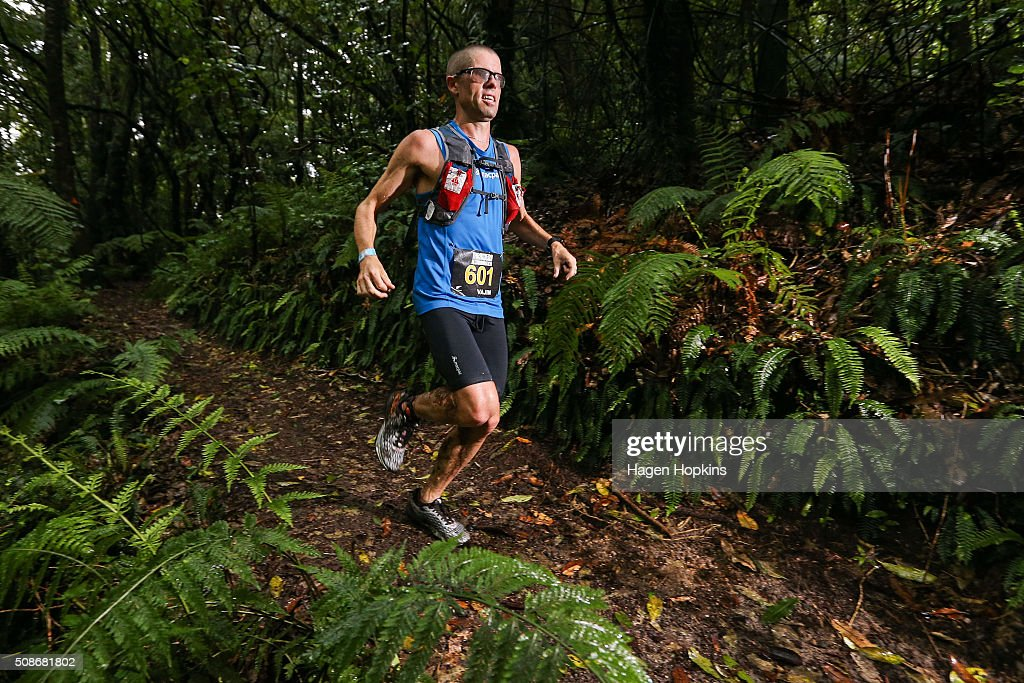 Vajin Armstrong of New Zealand in action during the Tarawera Ultramarathon on February 6, 2016 in Rotorua, New Zealand.