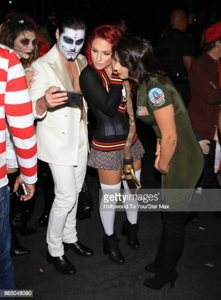 Val Chmerkovskiy and Sharna Burgess are seen on October 21 2017 in Los Angeles CA
