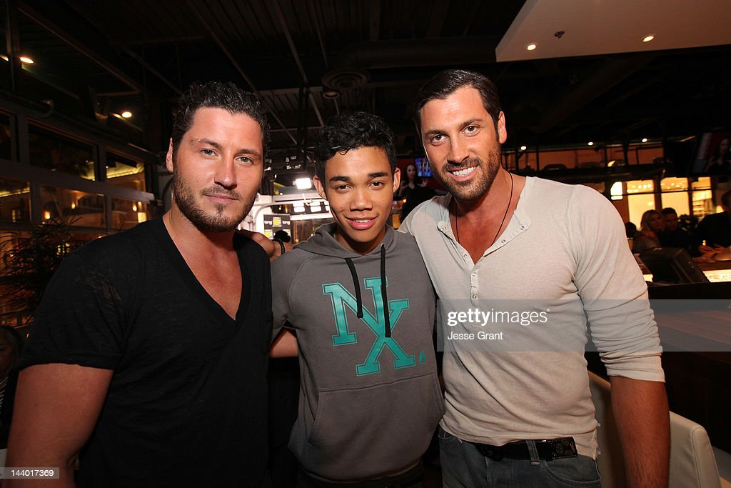 Val Chmerkovskiy Roshon Fegan and Maksim Chmerkovskiy attend the Dancing With The Stars After Party At Mixology 101 on May 7 2012 in Los Angeles...