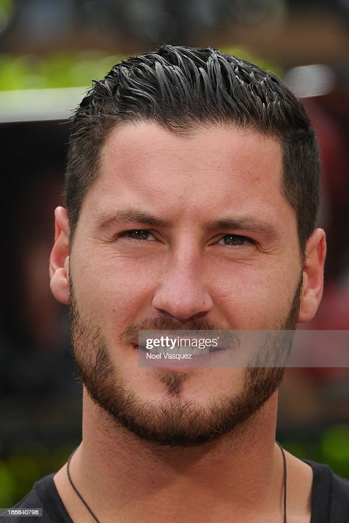 Val Chmerkovskiy visits 'Extra' at The Grove on April 17, 2013 in Los Angeles, California.