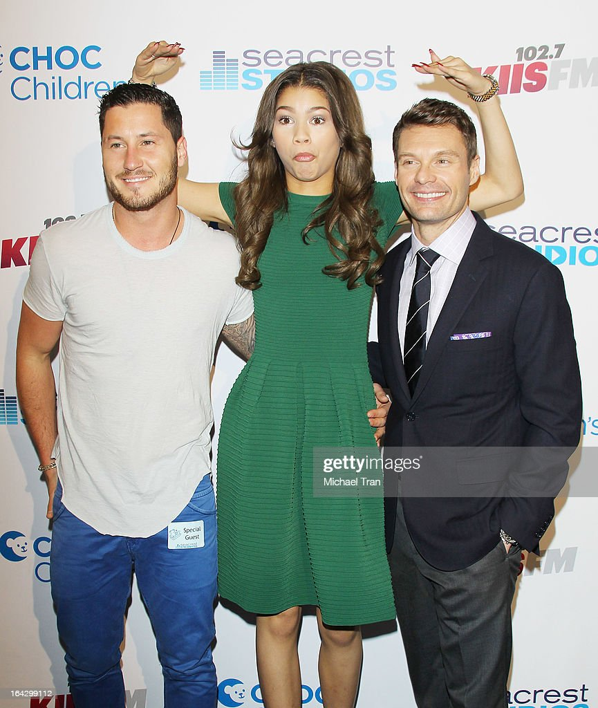 Val Chmerkovskiy, <a gi-track='captionPersonalityLinkClicked' href=/galleries/search?phrase=Zendaya+Coleman&family=editorial&specificpeople=7115520 ng-click='$event.stopPropagation()'>Zendaya Coleman</a> and <a gi-track='captionPersonalityLinkClicked' href=/galleries/search?phrase=Ryan+Seacrest&family=editorial&specificpeople=201694 ng-click='$event.stopPropagation()'>Ryan Seacrest</a> attend The <a gi-track='captionPersonalityLinkClicked' href=/galleries/search?phrase=Ryan+Seacrest&family=editorial&specificpeople=201694 ng-click='$event.stopPropagation()'>Ryan Seacrest</a> Foundation West Coast debut of new multi-media broadcast center 'Seacrest Studios' held at CHOC Children's Hospital on March 22, 2013 in Orange, California.