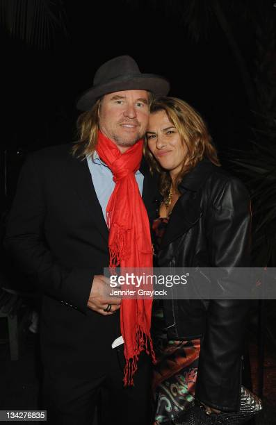 Val Kilmer and Tracey Emin attend the White Cube Party at Soho Beach House Miami on November 29 2011 The event was cohosted by Jay Jopling and Nick...