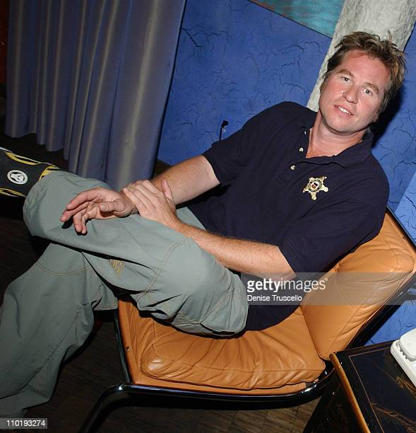 Val Kilmer during The Palms Hotel and Casino Resort and George Maloof's Private Real World Suite Party for CineVegas 2004 Honorees at Palms Hotel and...