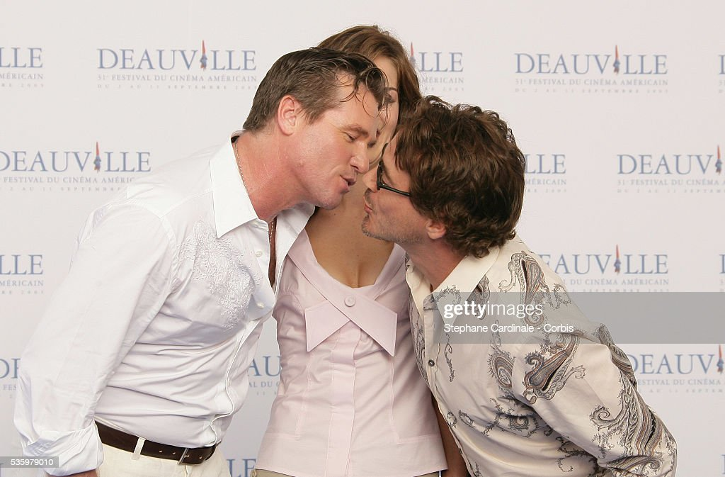 Val Kilmer, Robert Downey Jr, Michelle Monaghan pose at 'Kiss Kiss Bang Bang' photocall during the 31st American Deauville Film Festival.