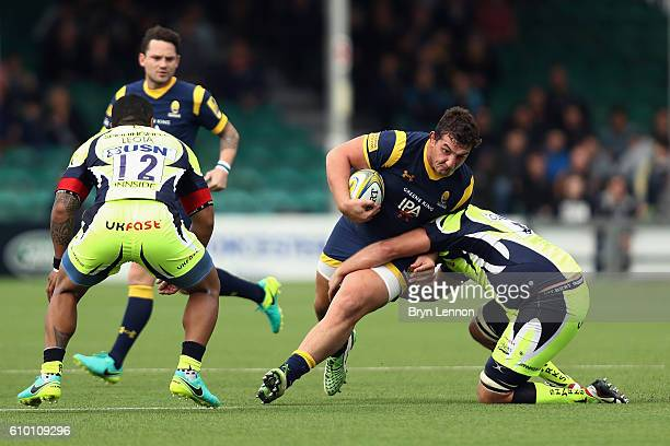 Val Rapava Ruskin of Worcester Warriors in action during the Aviva Premiership match between Worcester Warriors and Sale Sharks at Sixways Stadium on...