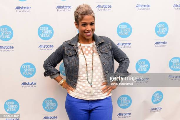 Val Warner attends the Allstate Foundation Good Starts Young Rally at The Wit Hotel on June 21 2017 in Chicago Illinois