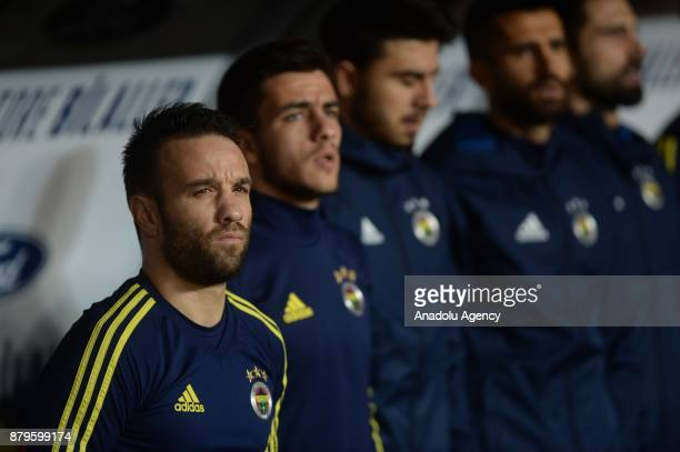Valbuena of Fenerbahce is seen on the bench during the Turkish Super Lig match between Antalyaspor and Fenerbahce at Antalya Stadium in Antalya...