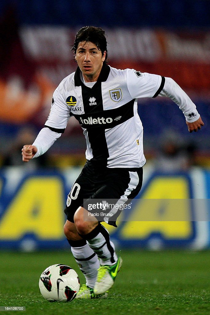 Valdes of Parma FC in action during the Serie A match between AS Roma and Parma FC at Stadio Olimpico on March 17, 2013 in Rome, Italy.